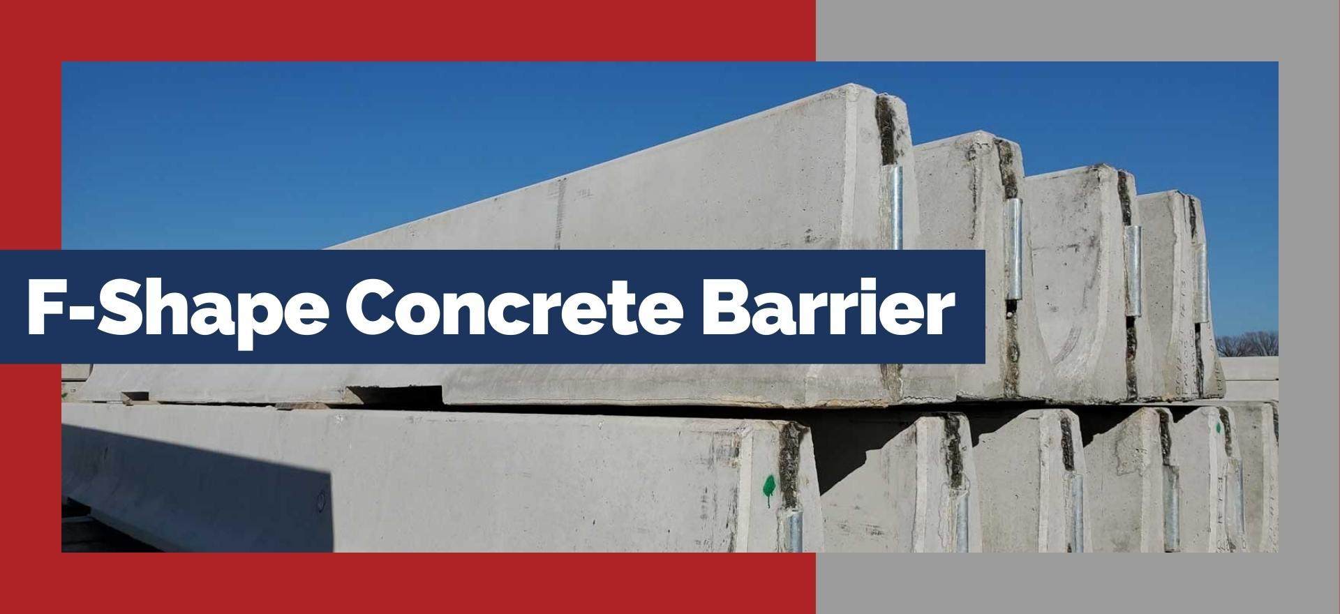 F-Shape Concrete Safety Barrier